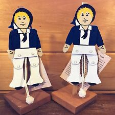 Sam Nautical Jumping Jack Arts of the Sailor Wooden Wood Barbette~Behm Maine Me