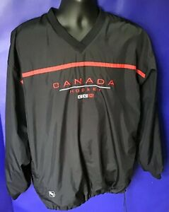 CANADA HOCKEY MENS CCM PULLOVER BLACK & RED LARGE