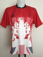 TEAM GB 2016 OLYMPICS 7'S RUGBY S/S RED JERSEY BY ADIDAS SIZE MEN'S EXTRA SMALL