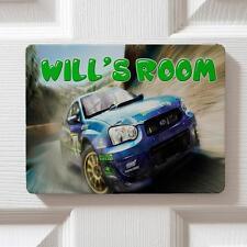 Personalised Rally Car Boy Children's Bedroom Door Kids Name Sign Plaque DP34
