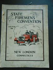 c.1926 STATE FIREMEN'S CONVENTION NEW LONDON CONNECTICUT SOUVENIR PROGRAM