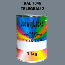Grigio Tele 2 Ral 7046 Opaco 1 KG Acrilico Vernice Per Metallo Legno Vetro Di