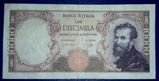 BANCONOTA DA 10000 LIRE MICHELANGELO ITALIA 1964 1962 CARLI RIPA