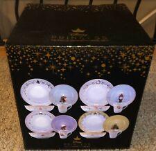 Disney Princess 16 Piece Porcelain Ceramic Dinner Set with Gold Detail