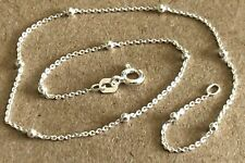 """10"""" with 11 Beads $7.99 ea. Sterling Silver .925 Anklet~ Beaded Italian"""