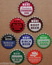 Vintage soda pop bottle caps NEHI Collection of 8 different unused new old stock