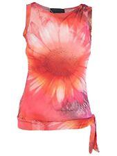 vengera maglia donna top rosso floreale stretch made italy taglia it 40 s small