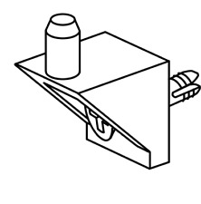 10x IKEA PAX shelf support #115344 without screws