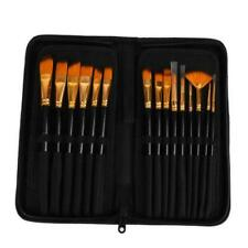 15pcs Art Painting Brushes Set Acrylic Oil Watercolor Artist Paint Brush