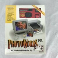 "New Unopened Vintage PHOTOWORKS PLUS For Windows PC On 3.5"" HD Floppy 1995"