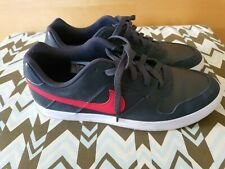 NIKE SB Delta Force Vulc Men's Skate Shoes US 12 Black Anthracite and red