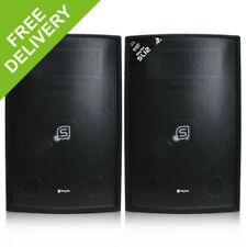 "Pair of Skytec 12"" Inch Passive PA Speakers Disco DJ Sound System Package 1200W"