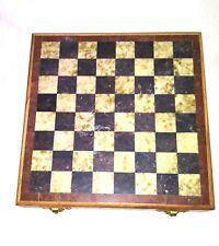 Chess Set Hand Carved Granite, Marble, Soapstone Vintage + Timer
