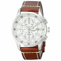 Swiss Army 241598 Men's Silver Dial Brown Strap Automatic Watch