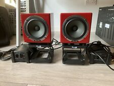 Avatone Mixcube Red (Pair) + Fluid Audio Stands