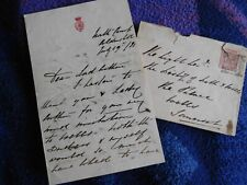 Prince Arthur (Queen Victoria's - son) hand signed letter