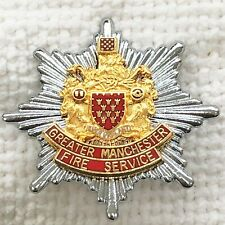 Greater Manchester Fire Service - Fire Brigade cap badge.