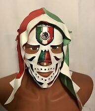 LA PARKA! THE DEATH WRESTLER/LUCHADOR MASK! FOR HALLOWEEN  MEXICAN FLAG HANDMADE