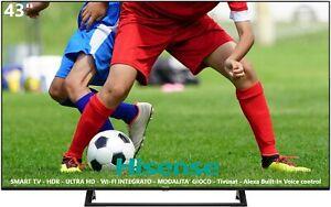 "Télévision TV Hisense 43 "" Smart LED UHD 4K HDR Pied Central DVB-T2 43A7300F"
