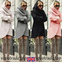 Women Long Jacket Coat Ladies Trench Winter Hooded Outwear Overcoat Cardigan Lot