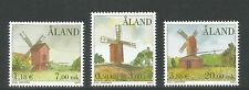 Aland 2001 Windmills--Attractive Architecture Topical (188-90) MNH