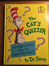 Dr Seuss the Cat's Quizzer First Edition  1976 like new