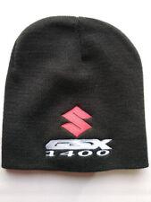 Suzuki GSX 1400 Beanie Hat - Black - Fully Embroidered - Red S - GSX1400