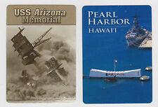 U.S.S.*ARIZONA* & PEARL HARBOR X 2 ONLY SGL. PLAYING/SWAPCARDS..NAVAL BATTLE