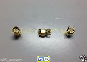 1 x PCB Mount SMA Male Jack Coaxial Gold RF Straight Connector Adapter USA