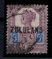 P131925/ ZULULAND SOUTH AFRICA / BRITISH COLONY / SG # 7 USED - CV 145 $