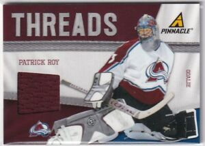 11-12 PINNACLE THREADS GAME JERSEY - AVALANCHE - PATRICK ROY