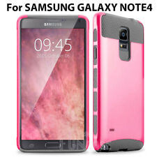 For Samsung Galaxy Note 4 Shockproof Hybrid Rubber Matte Protective Case Cover