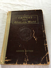 Capper's 1937 Atlas of the World By Lloyd Edwin Smith, B.S. Revised