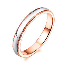 Wedding Anniversary Band Milgrain Ring Unisex Fine Jewelry Solid 14K Rose Gold