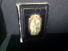 Victorian Jesus Friend Of Children Prayer Book Stamped Leather Gold Edged Pages