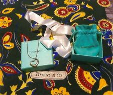 TIFFANY & CO. SILK SCARF & SILVER 925 HEART NECKLACE