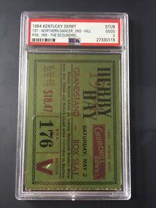 1964 Kentucky Derby Admission Stub/Ticket Northern Dancer PSA 2