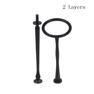 2/3 Tier Cake Plate Stand Handle Fitting Hardware Rod Plate Stand Wedding Pa QM