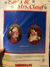 Needlepoint Christmas Ornament Kit 9056 by Dimensions - Santa and Mrs Claus-1987