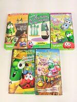 Lot of 5 VEGGIE TALES VHS Movies Christian Children's Videos Veggietales