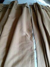 """Pr. WAVERLY  Curtains/Drapes Oatmeal Color 52"""" X 84"""" Bronze Grommet  Excellent"""