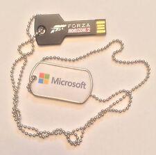 RARE MicrosoftXbox One-FORZA HORIZON 2: 4gb USB drive & Dogtag Chain Promo Item