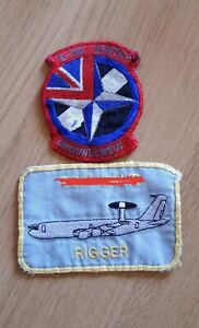 RAF  E-3D Sentry Awacs Patches Rigger Patch