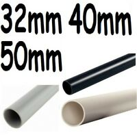 NEW 25cm long Push fit waste water plumbing pipe 32mm 40mm 50mm white,black,grey