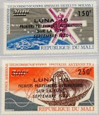 Mali 1970 245-46 c108-09 luna 16 OVP du VPM Moon Probe from space ship mnh
