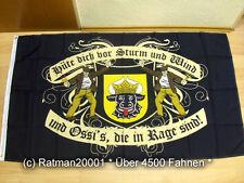 Fahnen Flagge DDR Mecklenburg Hüte dich vor Sturm Wind - 90 x 150 cm