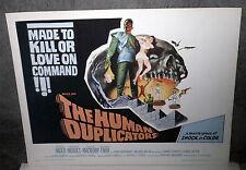 THE HUMAN DUPLICATORS 22x28 RICHARD KIEL/GEORGE NADER original rolled poster