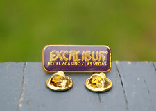 Excalibur Hotel Casino Las Vegas Gold Tone Metal Purple Enamel Lapel Pin Pinback