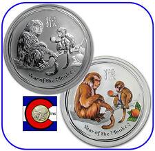 2016 Lunar Monkey 1/2 oz Silver, Australia Bullion & Colorized Coins