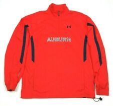Under Armour Mens Auburn Tigers Orange Zip Pullover Windbreaker Jacket Medium